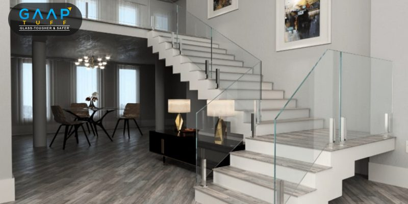 Glass Railing on Stairs