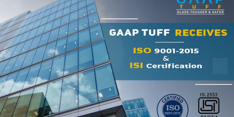 GAAP TUFF Receives ISO 9001-2015 and ISI Certification